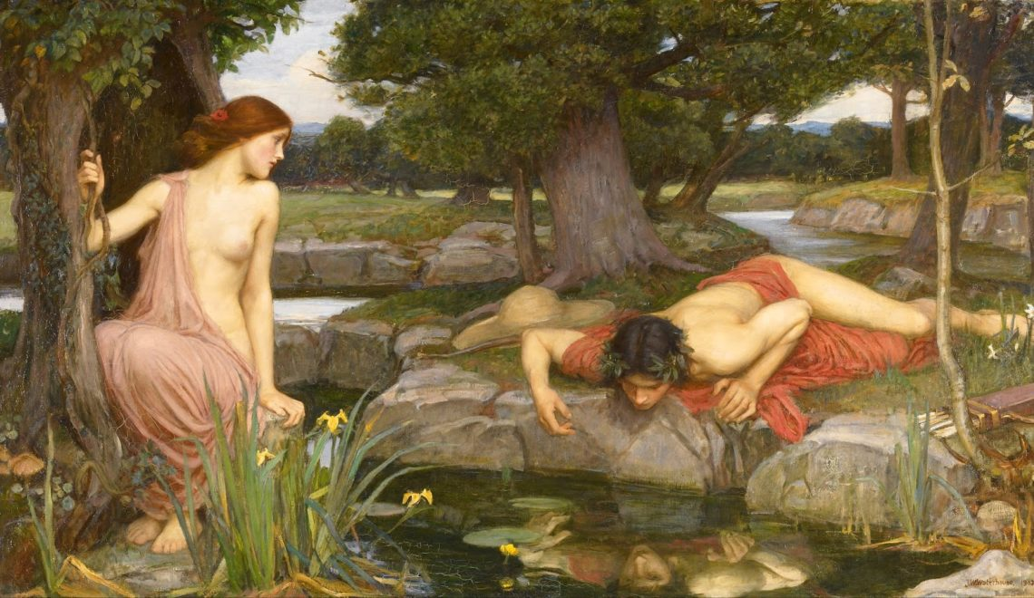 J. W. Waterhouse, Eco e Narciso (1903)