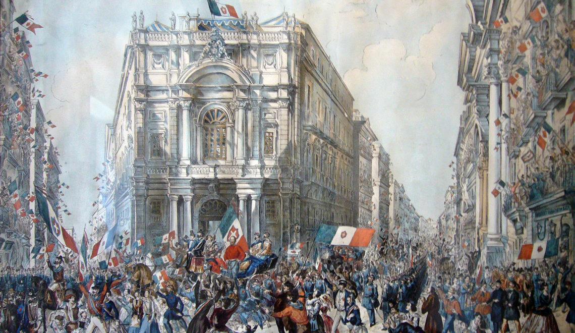 L'ingresso di Garibaldi a Napoli, il 7 settembre 1860, nell'attuale Piazza 7 settembre