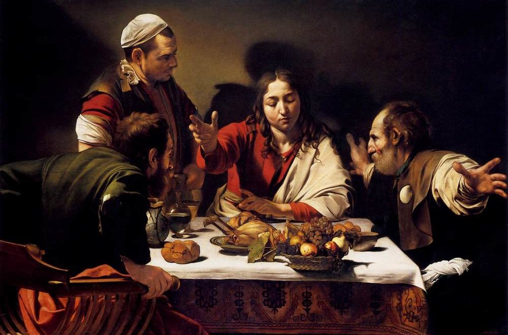 Supper at Emmaus (1602) National Gallery, London. Caravaggio. Another masterpiece of Christian art from the Counter-Reformation.